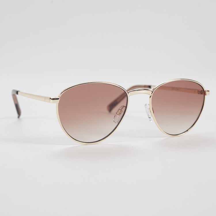 Product shot of Le Specs Hot Stuff Bright Gold Sunglasses -