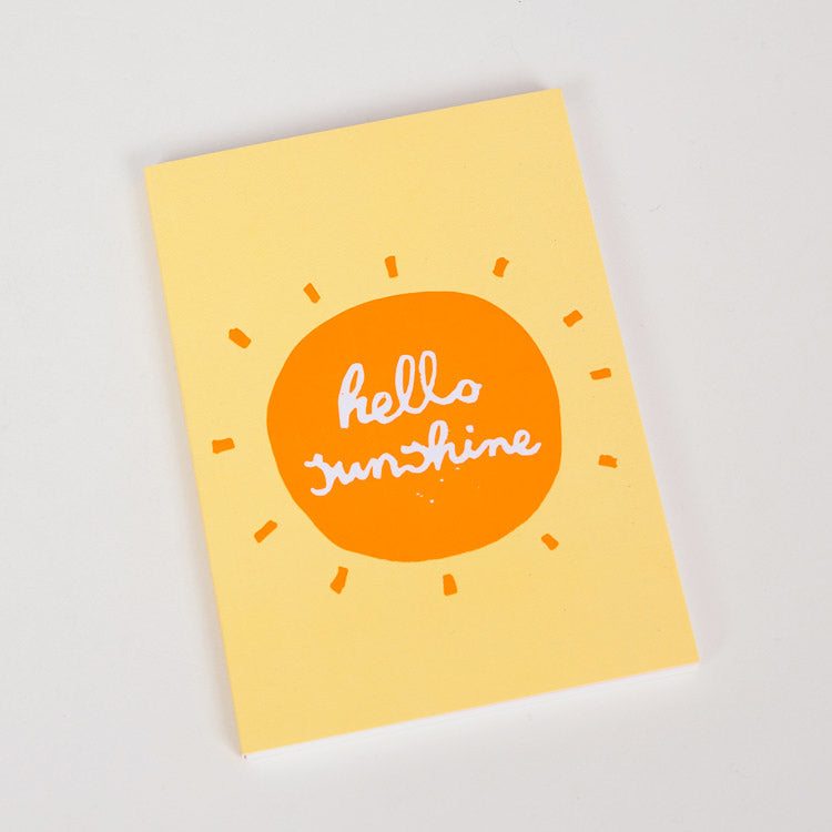 Product shot: 1973 Hello Sunshine A6 Notebook