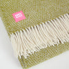 Detail shot: Lifestyle Beehive Kiwi Green Wool Throw