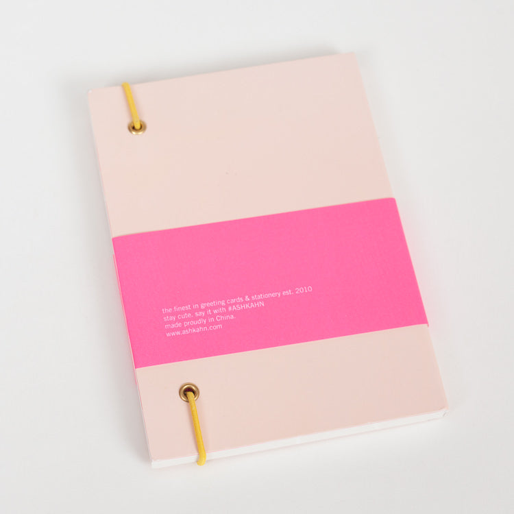 Product shot: Ashkahn A6 Peach Notebook, back cover