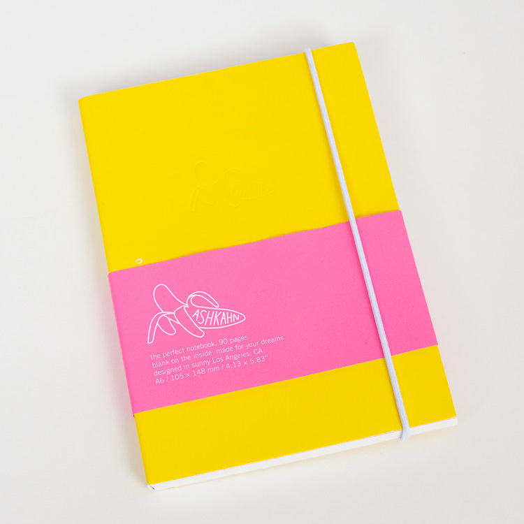 Product shot: Ashkahn A6 Yellow Notebook