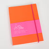 Product shot: Ashkahn A6 Neon Orange Notebook