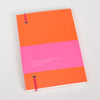 Product shot: Ashkahn A6 Neon Orange Notebook, back cover
