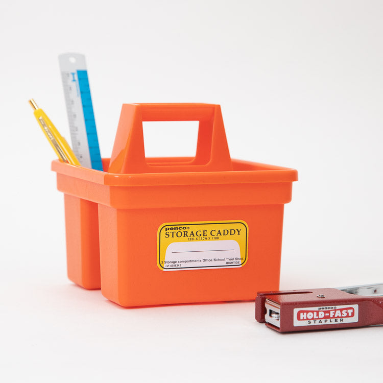 Hightide Penco Small Orange Storage Caddy - side view