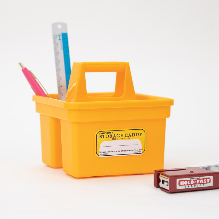 Hightide Penco Small Yellow Storage Caddy - side view