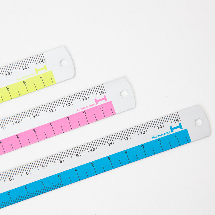 Hightide Blue Aluminium Ruler - options close up