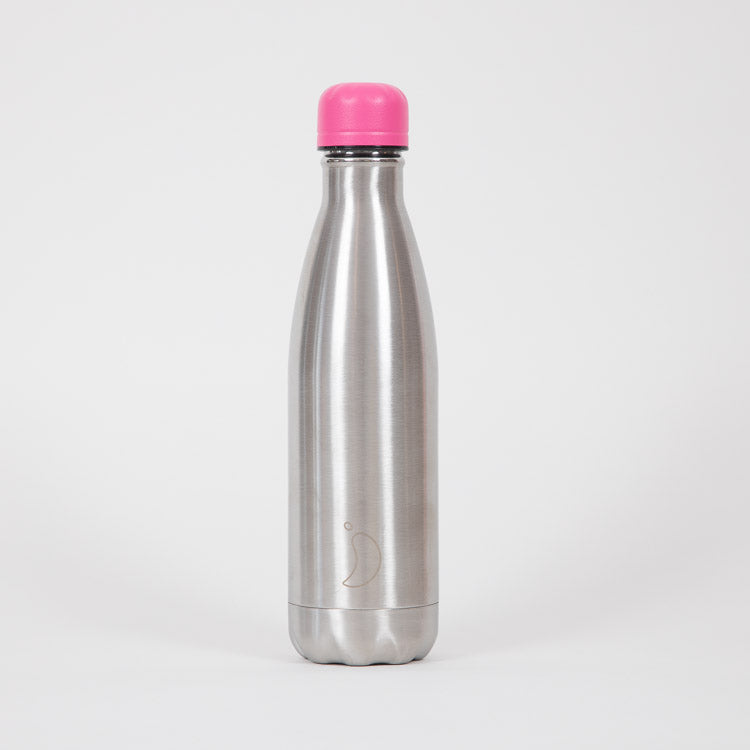 Chilly's Neon Pink 260ml/500ml Lid - on bottle