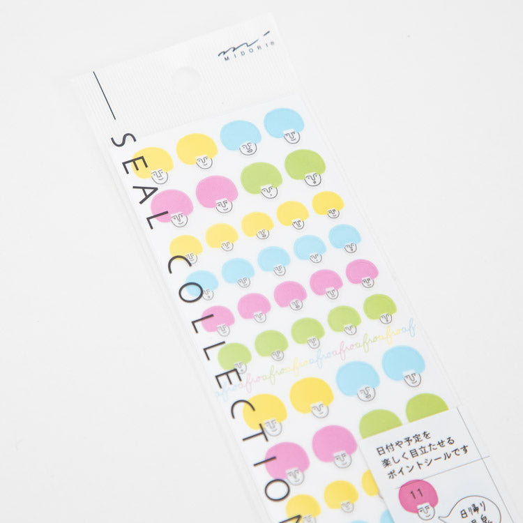 Midori Multicolour Afro Stickers - closer view