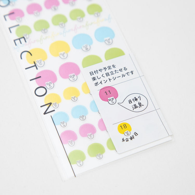 Midori Multicolour Afro Stickers - detailed view
