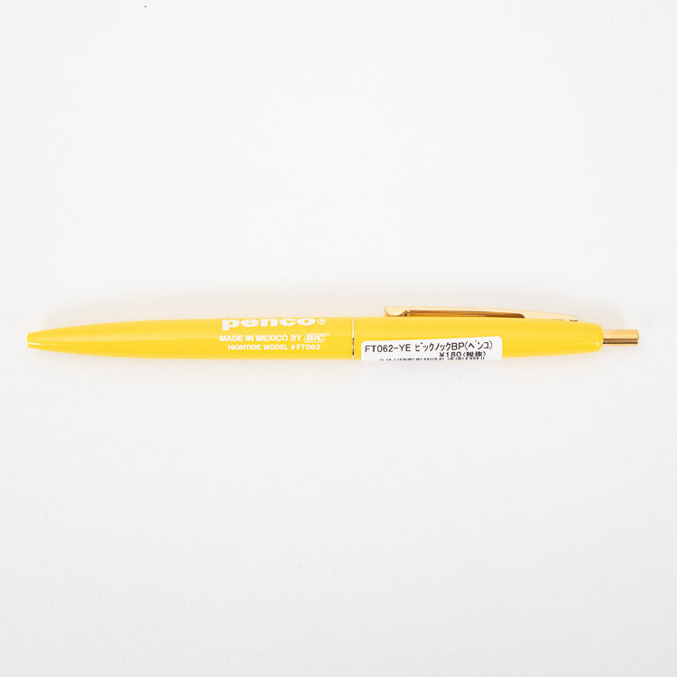 Hightide Penco BIC Clic Ballpoint Yellow Pen