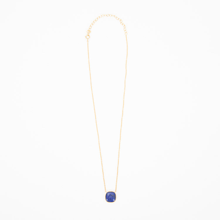 Pernille Corydon Lapis Lazuli Gold Necklace - full view
