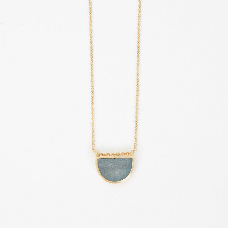 Wanderlust Life Sunburst Fine Gold Chain Labradorite Necklace | Shop online from Roo's Beach UK
