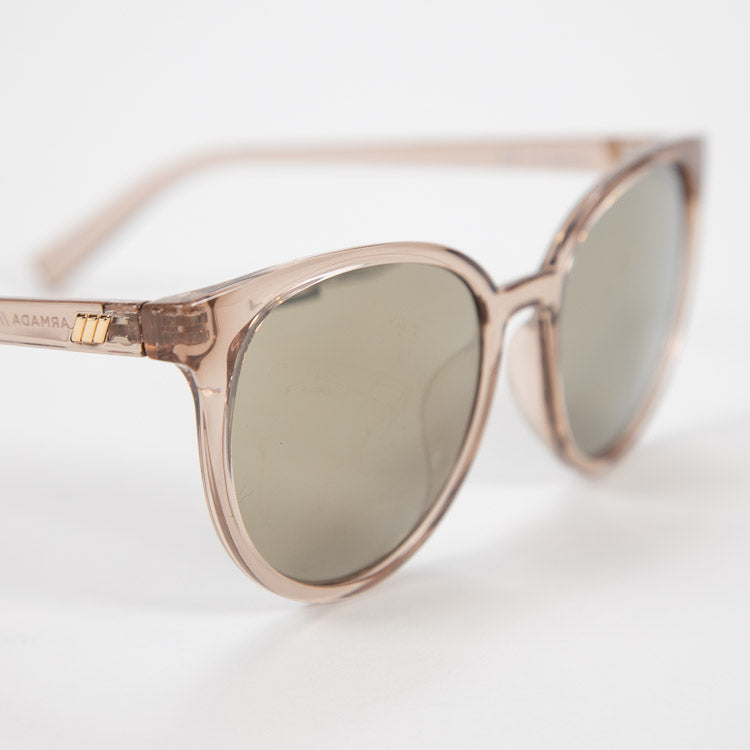 Le Specs Armada Stone Mirrored Sunglasses - close up
