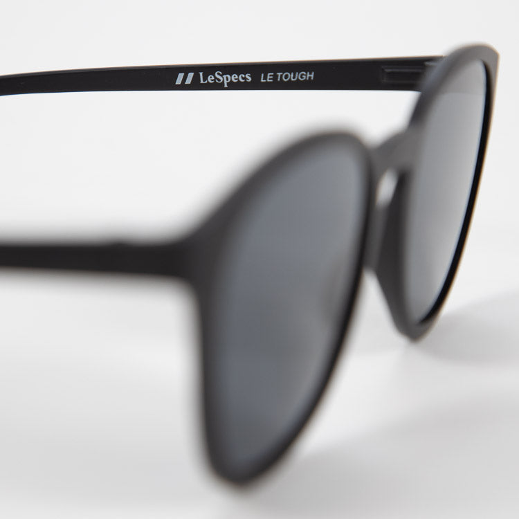 Le Specs Renegade Matte Black Sunglasses - detailed shot