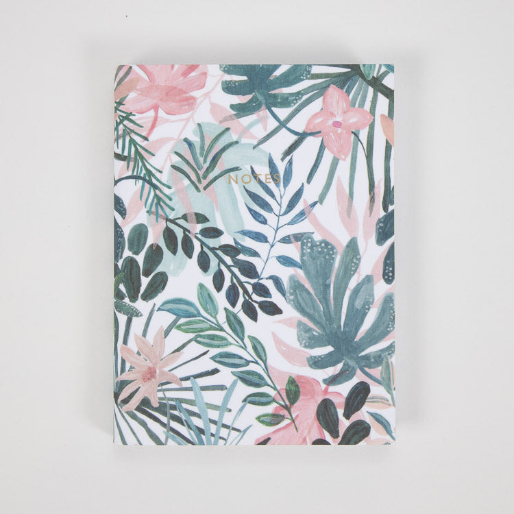 Ohh Deer x Marzia Beach Botanicals A6 Notebook - front cover