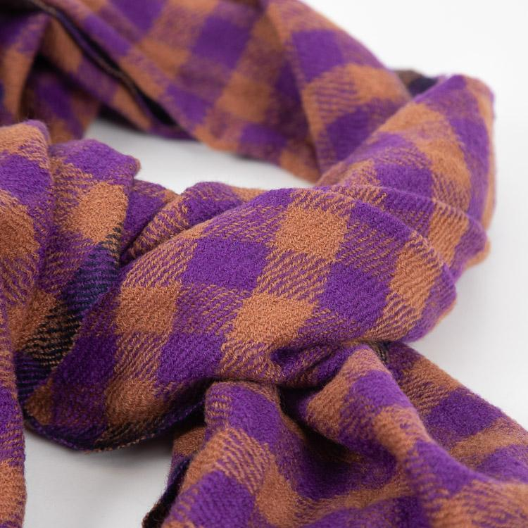 Bellerose Sidar Purple Check Scarf