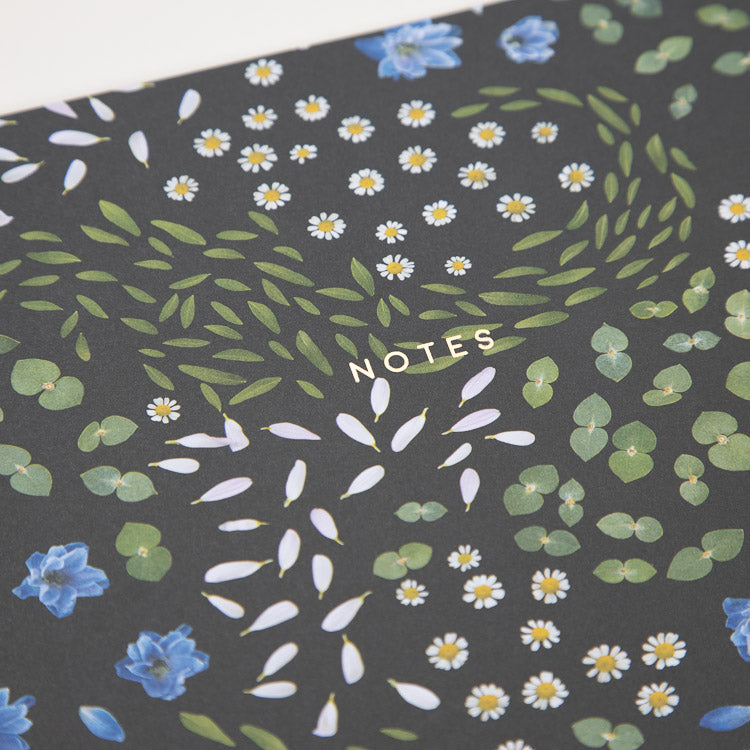 Ohh Deer Floral Primordia A4ish Notebook - detailed view