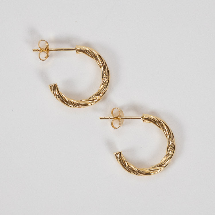 Pernille Corydon Bangkok Gold Small Hoops 20mm