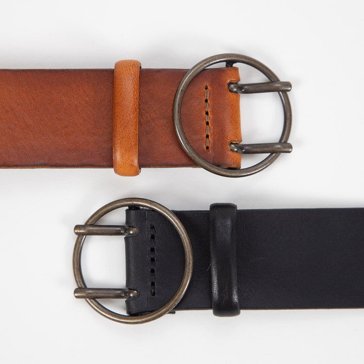 Bellerose Selya Black Leather Belt - different colours
