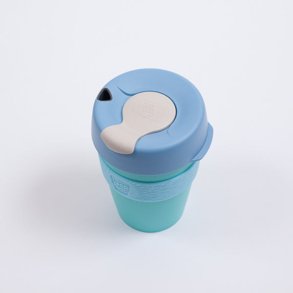 Blue BPA free travel coffee mug
