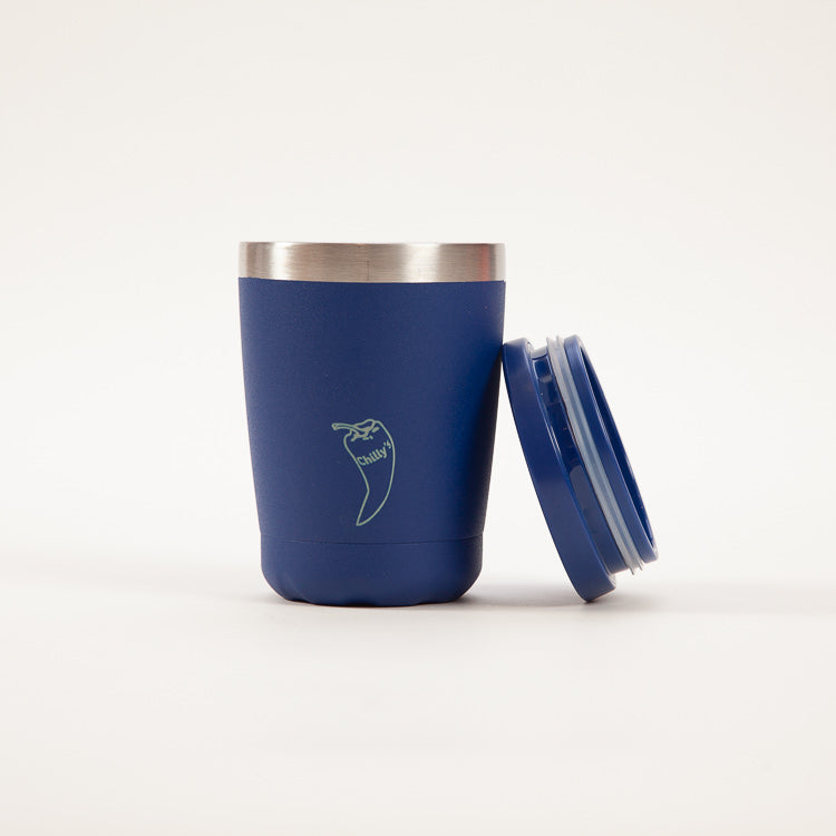 Product shot: Chilly's Coffee Cup Matt Blue 340ml