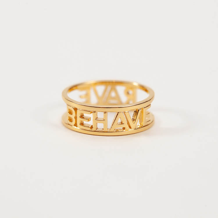 Products shot: Rachel Jackson Rave Behave Gold Ring