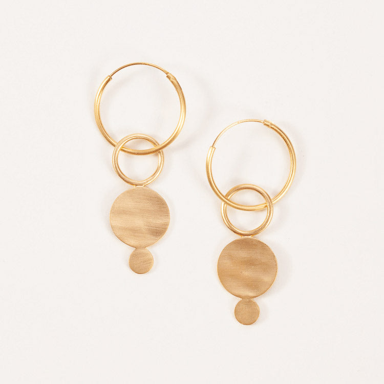 Product shot: Pernille Corydon Gold Saga Hoops