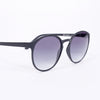 Le Specs Swizzle Matte Black Sunglasses - side on white background