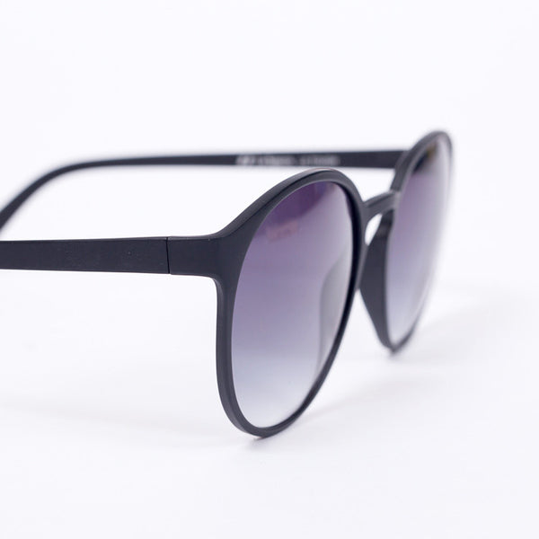 Le Specs Swizzle Matte Black Sunglasses - close up on white background