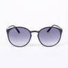 Le Specs Swizzle Matte Black Sunglasses - front facing on white background