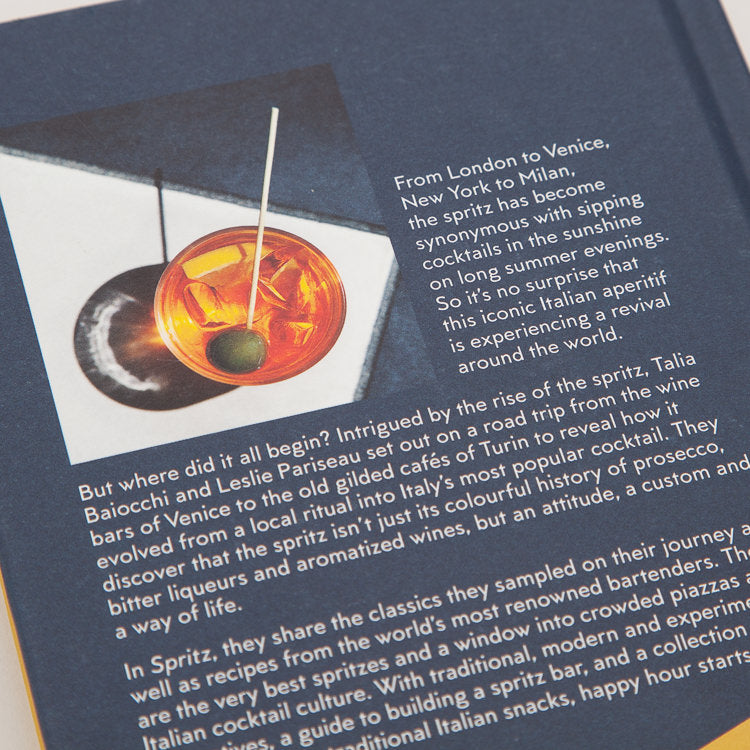 Product shot: Spritz: Italy's Most Iconic Aperitivo Cocktail, back cover detail