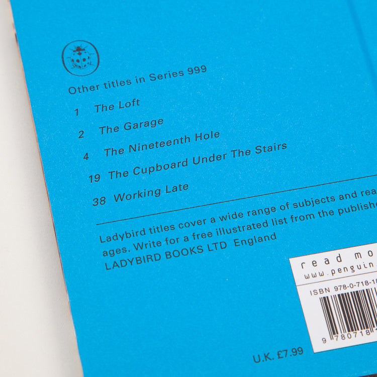Product shot: Ladybird Book Of The Shed, back cover detail