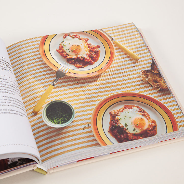 Product shot: Leon: Happy One Pot Cooking Book, back cover detail, inner spread deatail