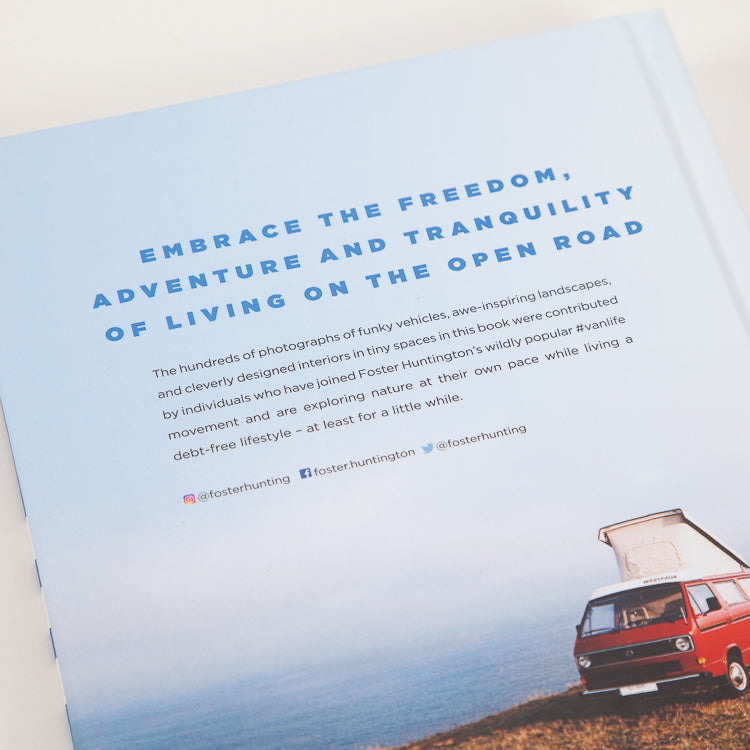 Van Life: Inspiration for your home on the road Book, back cover shot