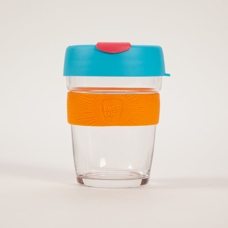 KeepCup Brew Cloud Burst Glass Reusable 12oz / 340ml Cup