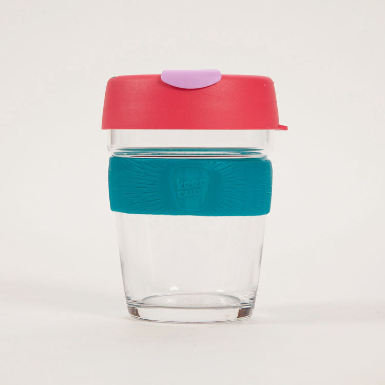 Product shot: KeepCup Brew Velocity Glass Reusable 12oz / 340ml Cup