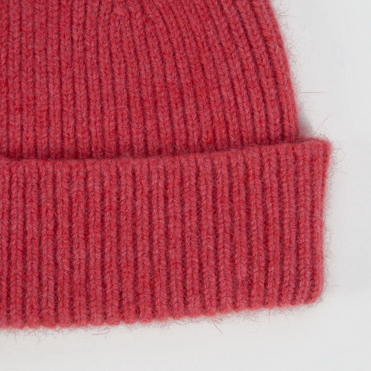 Detail shot of Le Bonnet Fuchsia Beanie Hat