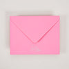 Hot pink envelope from an Ashkahn greetings card