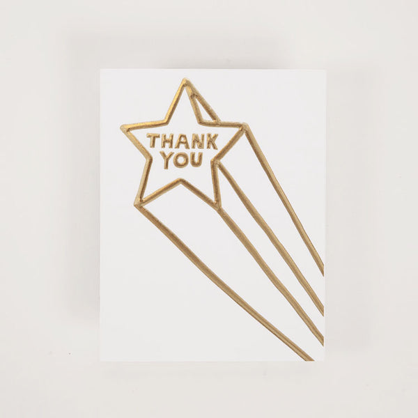 Product shot: Ashkahn Thank You Shooting Star Greetings Card
