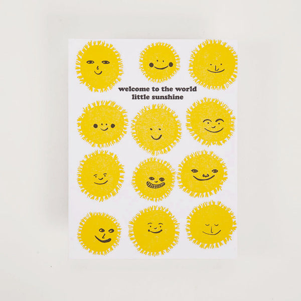Product shot: Egg Press Welcome Sunshine Greetings Card