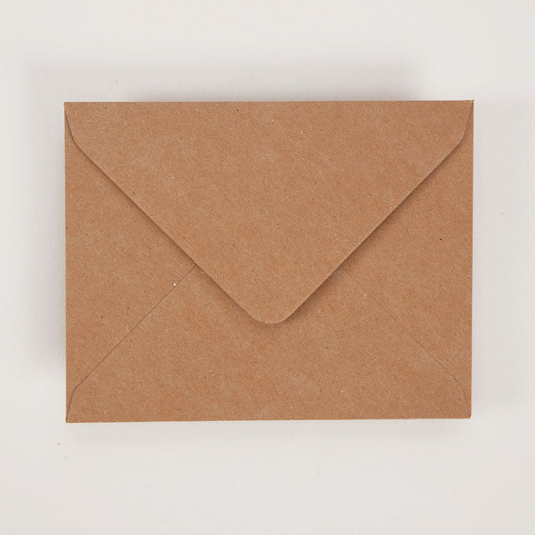 Kraft brown envelope from a Egg Press Greetings Card