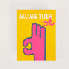 Product shot: 1973 Mums Rule Ok Greetings Card