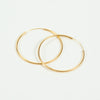 Product shot of Pernille Corydon Large Plain Silver Hoop Earrings