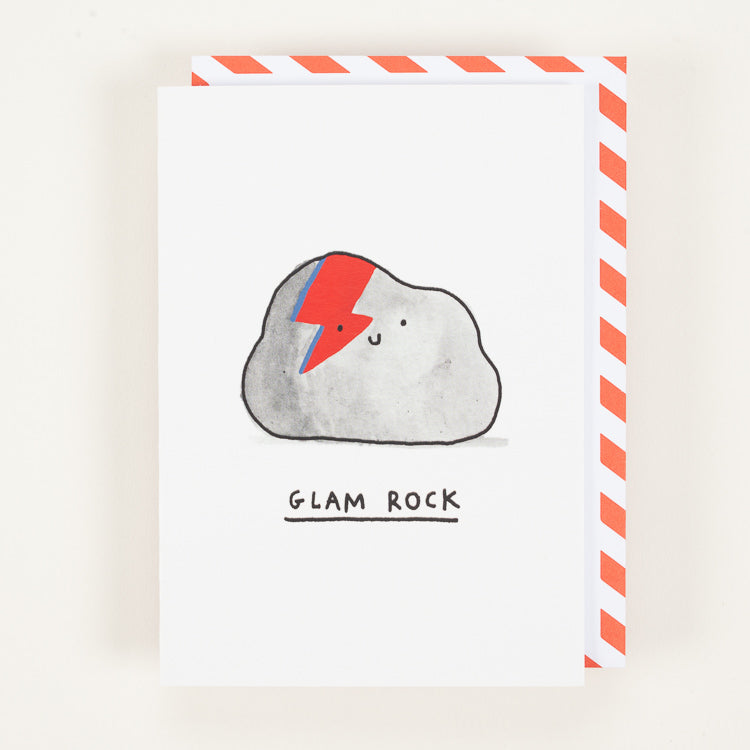 Product shot of Ohh Deer Glam Rock Greetings Card
