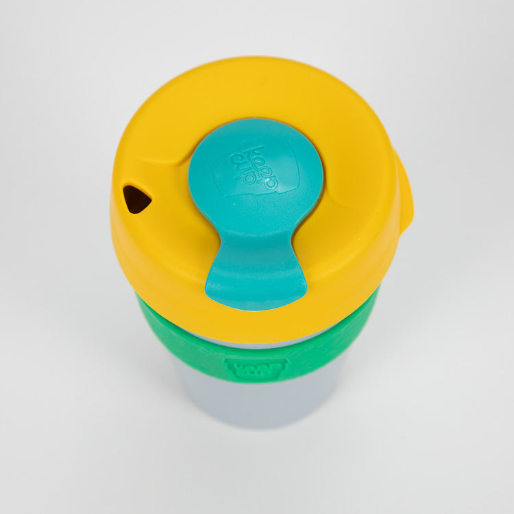 KeepCup Mango Fandango Reusable Travel Cup 340ml - detail shot