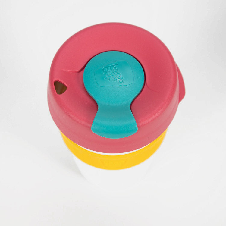 KeepCup Raspberry Mint Fizz Reusable Travel Cup 340ml -  detail shot