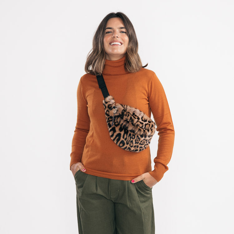 Bellerose Salima Leopard Faux Fur Bum Bag