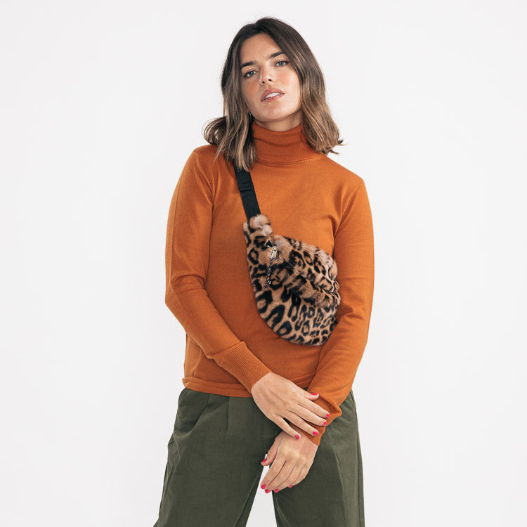 Bellerose Salima Leopard Faux Fur Bum Bag - shoulder wear