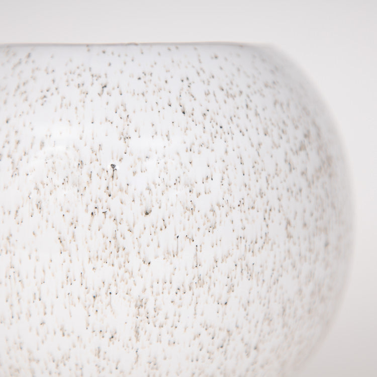 Bloomingville Natural Cream Stoneware Flowerpot - close up