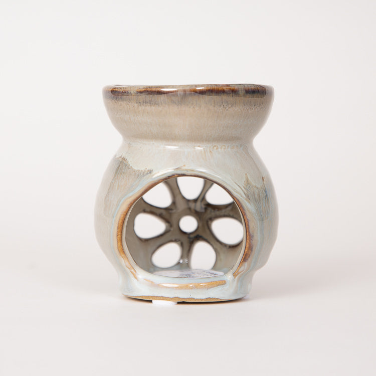 Bloomingville Blue Stoneware Scent Burner - back view